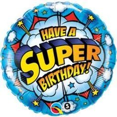 "18"" Have A Super Birthday - Pkg Foil Balloon (5ct)"