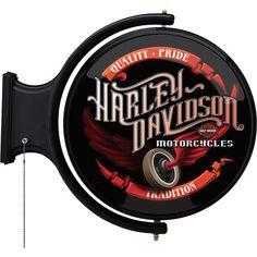 Harley-Davidson Winged Wheel Rotating Pub Light