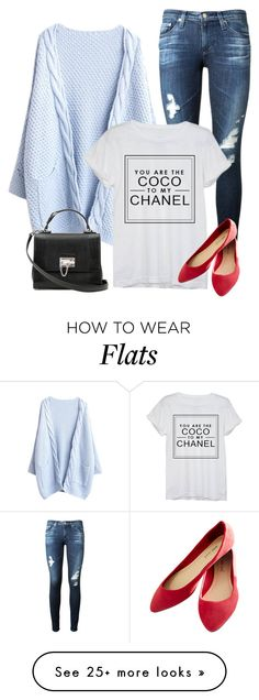 """""""Untitled #4044"""" by linda56draco on Polyvore featuring AG Adriano Goldschmied, Chanel, Wet Seal and Dolce&Gabbana"""