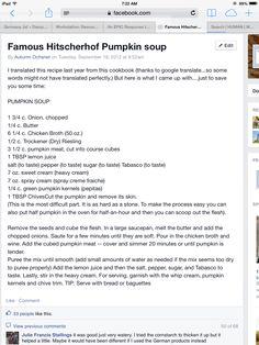 Famous Hitscherhof Farm Pumpkin Soup
