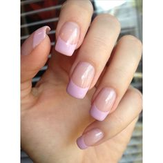 Pink french manicure ❤ liked on Polyvore featuring beauty products, nail care and manicure tools