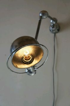 Bedroom || Beautiful Jielde industrial light. Made in France. Find similar ones on Only/Once – www.onlyonceshop.com