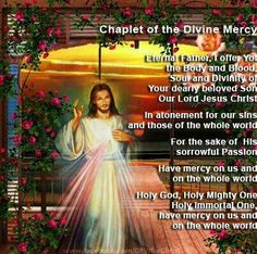 Chaplet of the Divine Mercy Jesus Mercy, Jesus Our Savior, God Jesus, Jesus Christ, Miséricorde Divine, Divine Mercy Sunday, Catholic Kids, Catholic Prayers, Devine Mercy