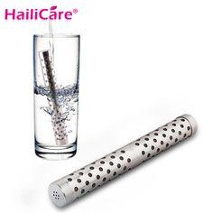 10pcs/lot Alkaline Water Stick PH Hydrogen Negative ION Ionizer Minerals Wand Health Water Purifier Filter Treatment Travel Size
