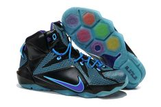 87ca52d470b WMNS LeBron 12 GS XII ID Black Gamma Blue Game Royal Wholesale Nike Shoes