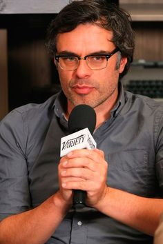 """""""Flight of the Conchords"""" star Jemaine Clement chats it up at the Variety Studio At Sundance."""