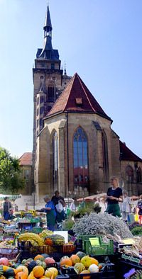 Stuttgart - The Stifts Church, situated in the heart of the old city, is the last remaining monument of the Stauferzeit. With her different towers, she earns her place as one of the true emblems of Stuttgart. Parts of the church date back to 1170.