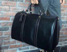 9de2b59602 Genuine Leather Mens Cool Weekender Bag Travel Bag Duffle Bags Overnight  Bag Holdall Bag for men