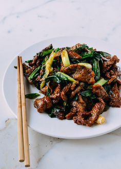 This scallion beef stir-fry is a quick and easy recipe that you'll make over and over again. Crispy beef and seared scallions are a perfect beef stir-fry served over steamed rice. Stir Fry Recipes, Beef Recipes, Chicken Recipes, Cooking Recipes, Recipies, Crispy Beef, Asian Recipes, Ethnic Recipes, Asian Foods