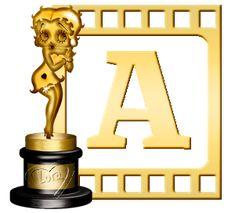 Alfabeto de Betty Boop como estatua de premio. | Oh my Alfabetos!