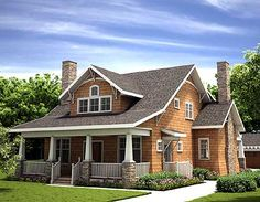 A bungalow -- what's not to like? Plan W18255BE: Craftsman, Country, Cottage, Narrow Lot House Plans & Home Designs