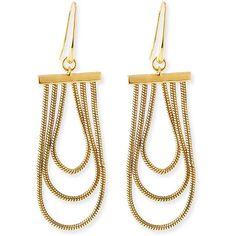 Diane von Furstenberg Gemma Chandelier Earrings ($71) ❤ liked on Polyvore featuring jewelry, earrings, gold, diane von furstenberg, yellow earrings, chandelier jewelry, womens jewellery and diamond earrings