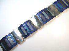 Stegemaille Armband Vintage 30er 50er Emaille Schibensky ? enamel bracelet .wN3