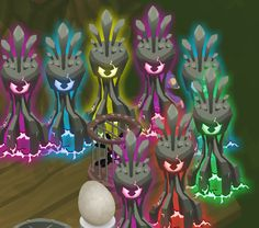 Animal Jam Backgrounds phantoms | Lots of Tall Phantom Statues in a Treehouse Den.