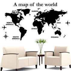 Hey, I found this really awesome Etsy listing at https://www.etsy.com/ru/listing/120666296/map-wall-decalworld-map-wall