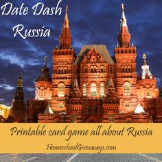 FREE Date Dash Russia – Russian History Game. In what year did Ivan III break from the control of the Mongol Empire? In what year was Mikhail S. Gorbachev elected president of the Soviet Union? Test your knowledge of Russian history with this free printable card game. There are thirty-three questions, each with two levels of difficulty, so it's perfect for middle school or high school. Download a copy today!
