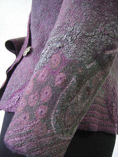 Пиджаки, жакеты ручной работы. Ярмарка Мастеров - ручная работа. Купить Жакет женский валяный Восточный огурец. Handmade.
