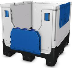 Lipat padat container plastik besar (IBC) B2GH121097FS