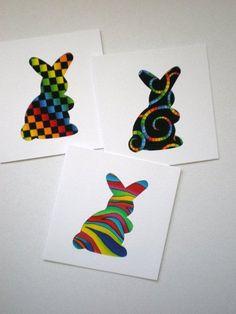 Ideen für kreative-Osterkarten selber machen-Geschenkidee für Kinder-und-Eltern