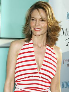 Diane Lane's layered look is anything but fussy. Such a flirty and fun spring style!