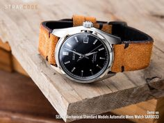 Let's brighten up today with a #MiLTAT saddle brown nubuck leather strap on #Seiko #SARB033 Strapcode.wordpress.com #iwantstrapcode #strapcode