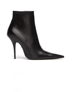 Balenciaga   Stiletto Leather Ankle Boots   SVMOSCOW.COM