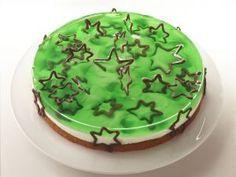 Grüne Weihnachtstorte