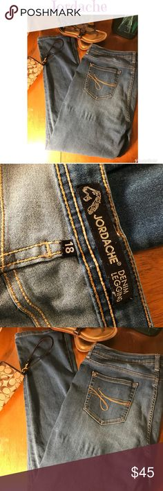 Jordache jean jeggings One paint spot, near a snag barely noticeable. (As shown) Otherwise great condition. Smoke free home. Jordache Jeans Skinny