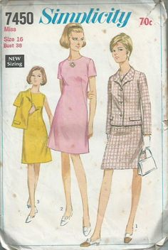 60s Dress and Jacket  Simplicity Pattern by LouisaAmeliaJane, $4.50