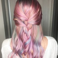 Pastel dream hair using pulp riot.  Done at TK's Hair Studio in chesapeake Virginia  Tkshairstudio18@gmail.com