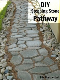 DIY Stepping Stone Pathway