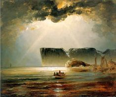 Peder Balke (Norwegian, 1804-1887) - Nordkapp (North race), 1840