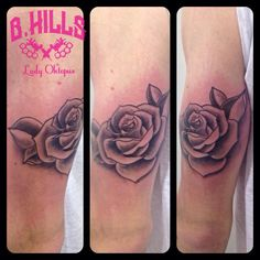 #Rose #Tattoo #Ink #rosetattoo #armtattoo #blackandgrey #shadeofgrey #Larabhills #LaraladyOktopustattooartist #Bhillstattoo #Cittadella