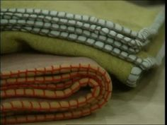 Martha Stewart creates comfy blankets using Polartec for no hem gifts that won't…