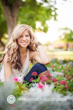 Senior Portraits - I love flowers :) Horizon High School Senior!! [Scottsdale Senior Portrait Photographer]