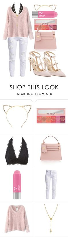 """""""glamorou$."""" by l0vekennedyy ❤ liked on Polyvore featuring Too Faced Cosmetics, Charlotte Russe, Valentino, Miss Selfridge, Chicnova Fashion, Giani Bernini, women's clothing, women, female and woman"""