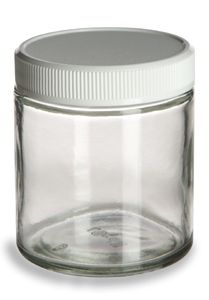 for storing spices - Straight Sided Clear Glass Jar 4 oz w/ Std White Lid $0.73