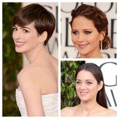 """""""Menos é mais!"""" Muitas que brilharam no red carpet do Golden Globes apostaram na make natural e ganharam muito destaque! ;)"""