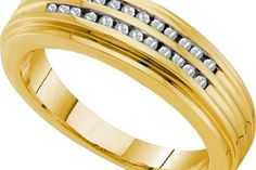 $964.50 - 0.20CT DIAMOND FASHION MENS BAND.      Metal Type:  14KYG     Metal Weight (gms):  6.705 (approx.)     GD-40223      Visit our website at http://www.thesgdex.com  The Silver Gold & Diamond Exchange  WE BUY | SELL | TRADE | CONSIGN | AUCTION | APPRAISE