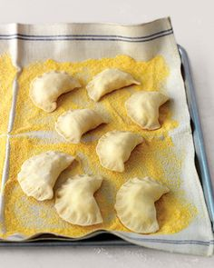 Basic Pierogi, Recipe from Martha Stewart Living, April 2010 - I Cook Different Snack Recipes, Cooking Recipes, Snacks, Cooking 101, Pierogi Recipe, Martha Stewart Recipes, Polish Recipes, Polish Food, Empanadas