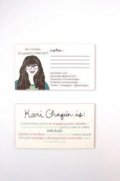 Business cards designed by www.showandtelldesignstudio.com for Kari Chapin on Dear Handmade Life
