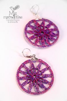 Crochet Earrings - Pendientes de ganchillo   Pendientes mand…   Flickr