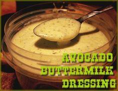 Creamy Avocado Buttermilk Dressing http://www.momspantrykitchen.com/avocado-buttermilk-dressing.html