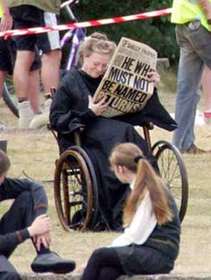 Maggie Smith behind the scenes. She was battling cancer and filmed the last two movies while undergoing chemo.