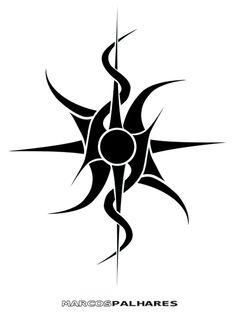 Tribal sun tattoo design