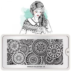 MoYou London Stamping Schablone *Doodles Collection 3* 03 Kreis Henna Mandala