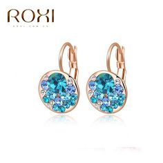 ROXI Brand Top Quality Earrrings For Women Rose Gold White Gold Plated Stud Earrings Fashion Jewelry for New Year Christmas Gift *** Click the VISIT button to find out more
