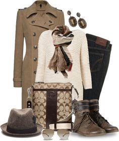 """""""Casual Cozy Coach"""" by leegal57 on Polyvore"""