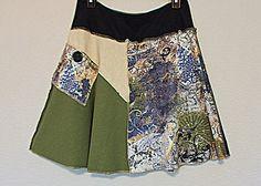 Women's Funky Boho Hippie Skirt Recycled Junior's Sustainable Clothing Size Medium Large by AmadiSloanDesigns on Etsy