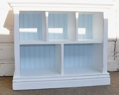 Children's Bookshelf with Cubby shelves in by AlyandCompanyToo, $115.00